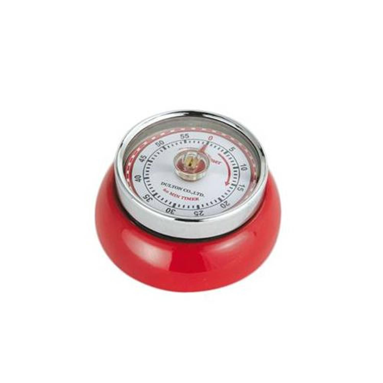 Magnetische kookwekker - rood - retro-collection - zassenhaus