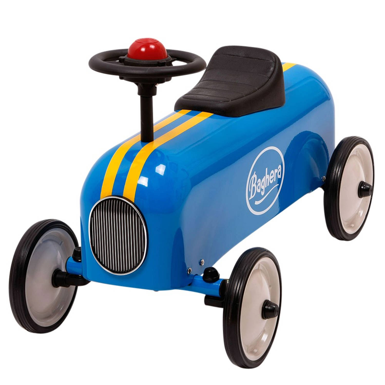 Afbeelding van Baghera Racer Retro Loopauto Blauw