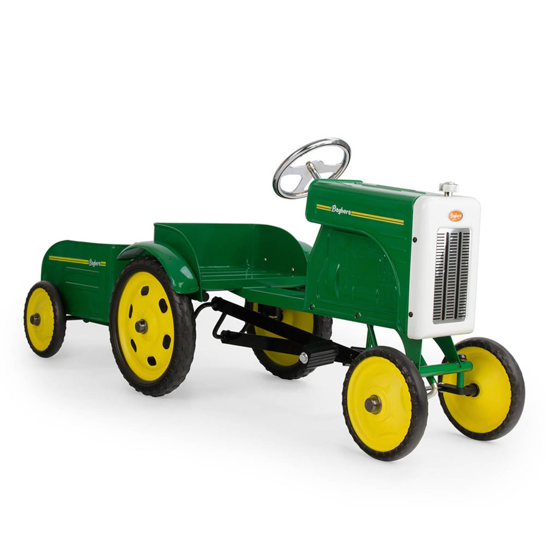 Afbeelding van Baghera Little Farmer Trapauto Tractor & Aanhangwagen