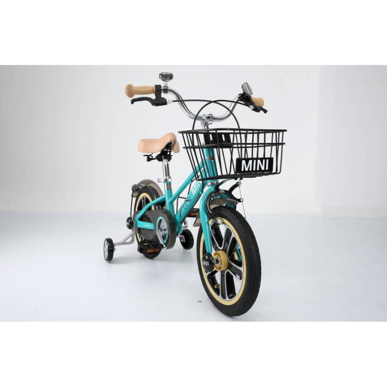 mini fiets blauw 14 inch
