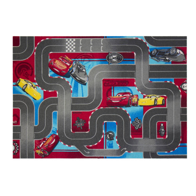 Afbeelding van Disney Cars 3 stratenplan vloerkleed