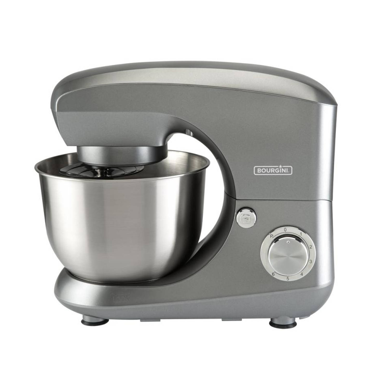 Bourgini keukenmachine 45 liter metallic grijs