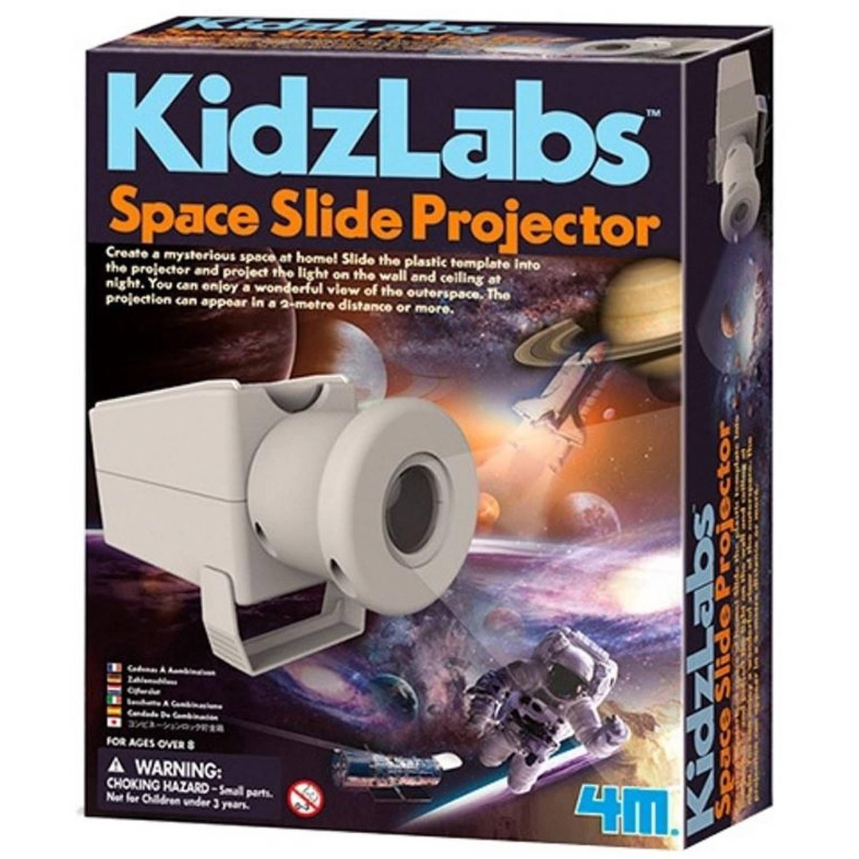 Afbeelding van 4M Kidzlabs diaprojector ruimte bouwpakket