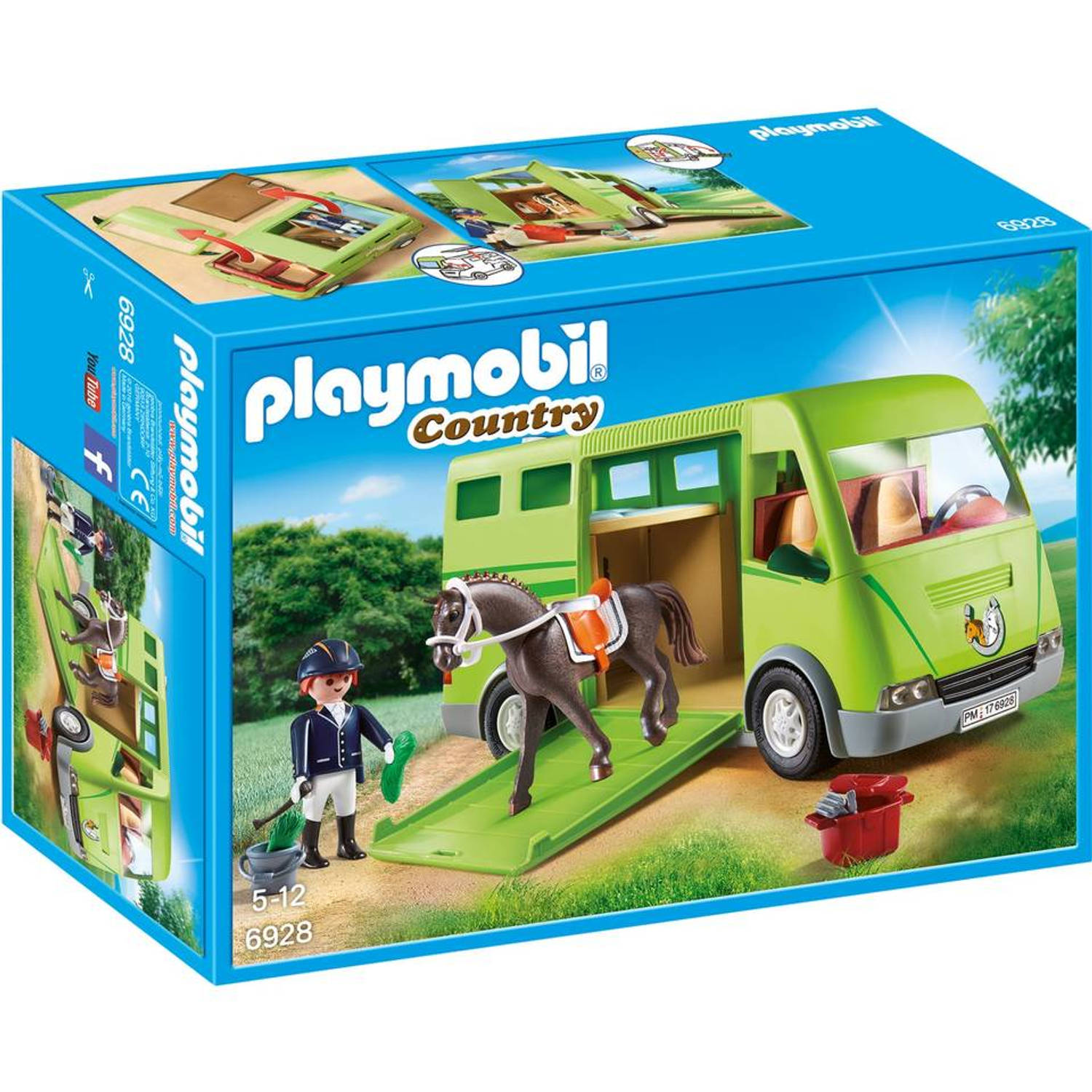 playmobil country paardenvrachtwagen 6928 blokker. Black Bedroom Furniture Sets. Home Design Ideas