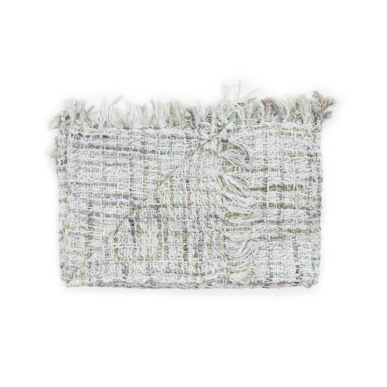 Heckett & Lane Tirza plaid - 100% katoen - 140x220 cm - Groen, Sea Sprays