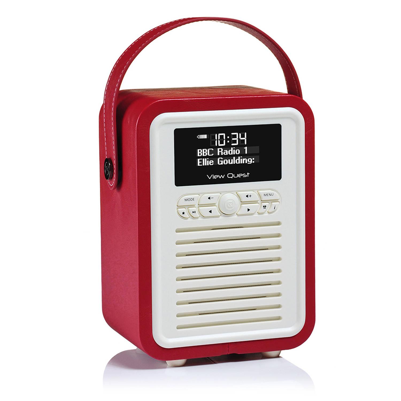 View Quest Retro Radio Mini DAB+ Bluetooth Wekker Red