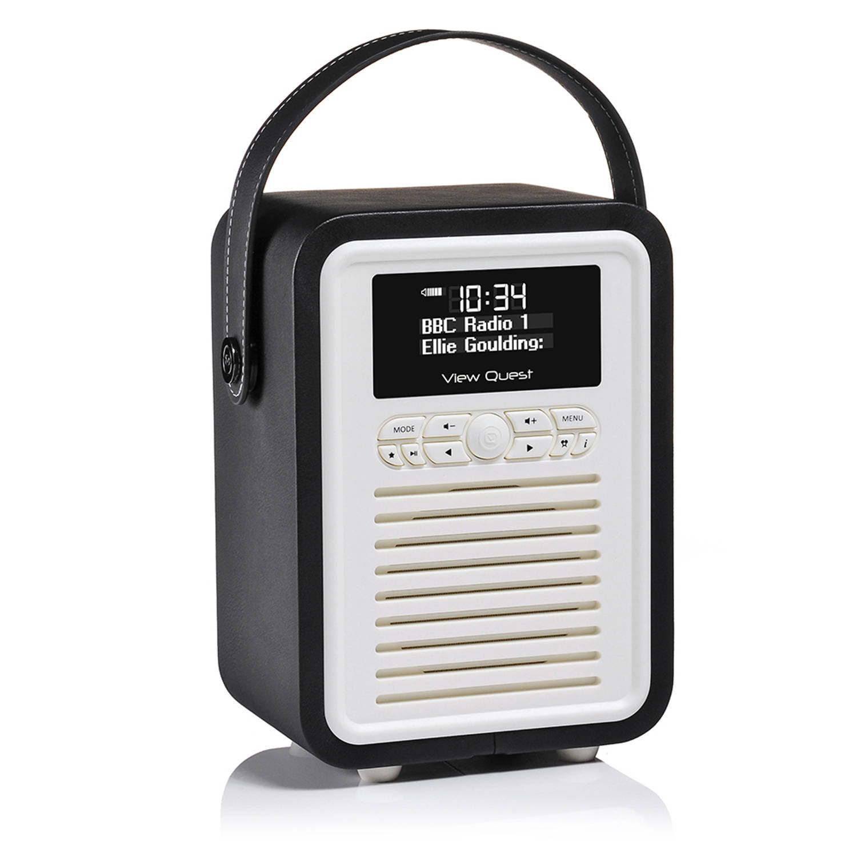 View Quest Retro Radio Mini DAB+ Bluetooth Wekker Black