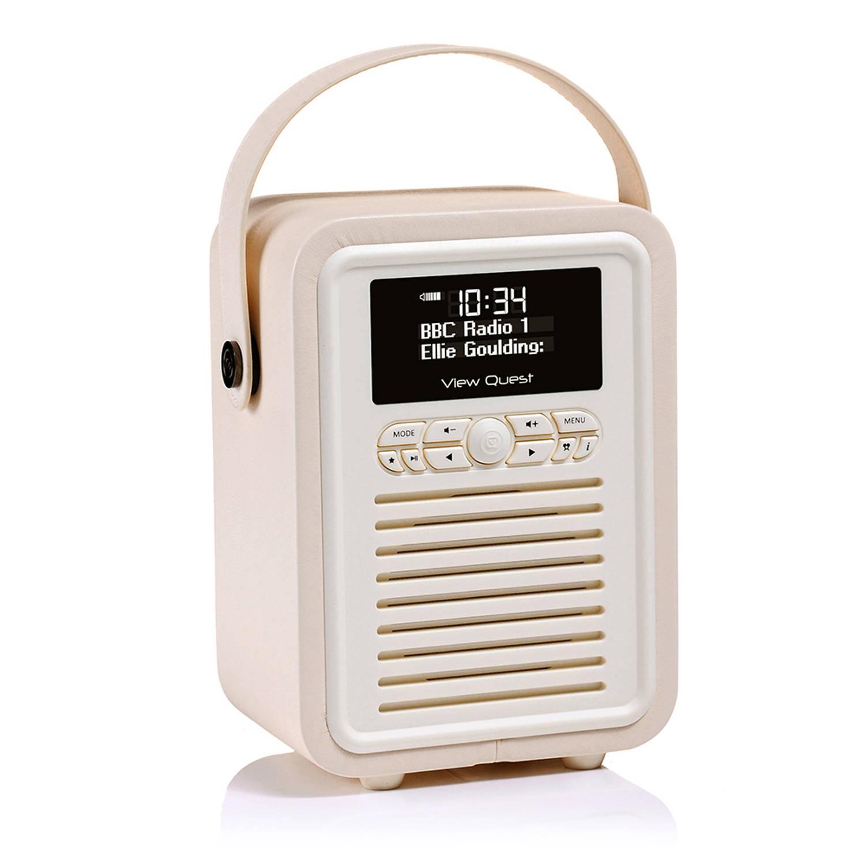 View Quest Retro Radio Mini DAB+ Bluetooth Wekker Cream