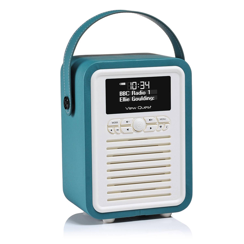 View Quest Retro Radio Mini DAB+ Bluetooth Wekker Teal