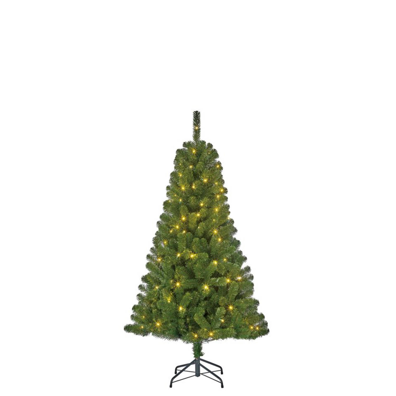 Black Box kerstboom met verlichting Charlton 155 cm