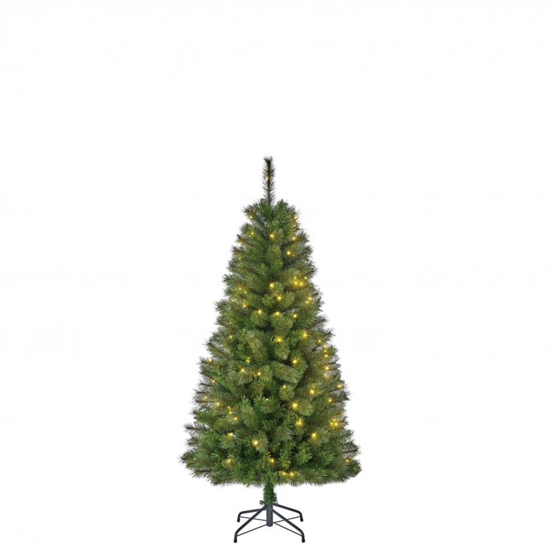 black box kerstboom met verlichting medford 155 cm