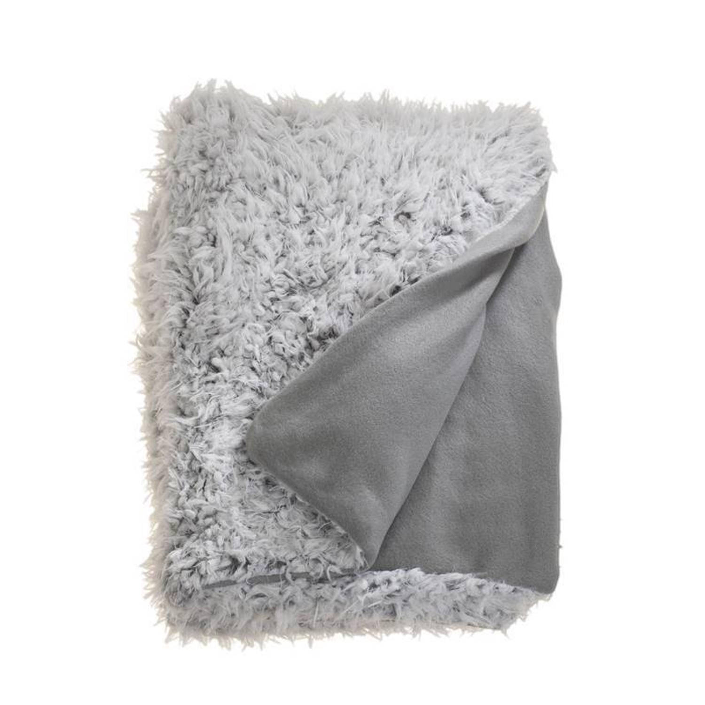 Unique Living Salvo fleece plaid - 100% polyester, Fleece polyester - 150x200 cm - Grijs