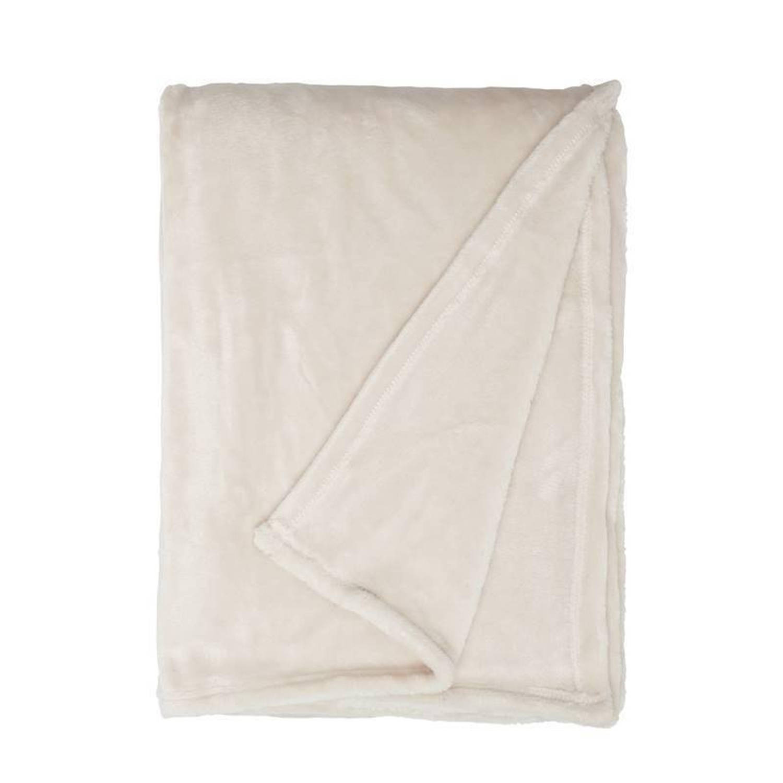 Unique Living Blush fleece plaid - 100% polyester, Fleece polyester - 150x200 cm - Zand