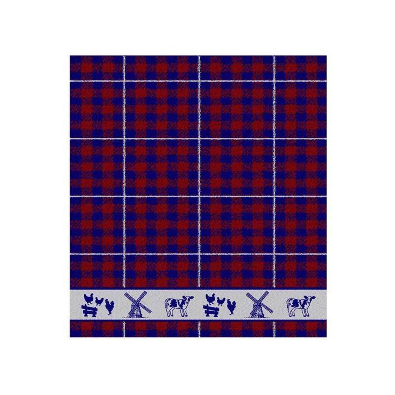 DDDDD Farmlife keukendoek (set van 6) - 100% katoen - Keukendoek (50x55 cm) - Set van 6 - Blauw