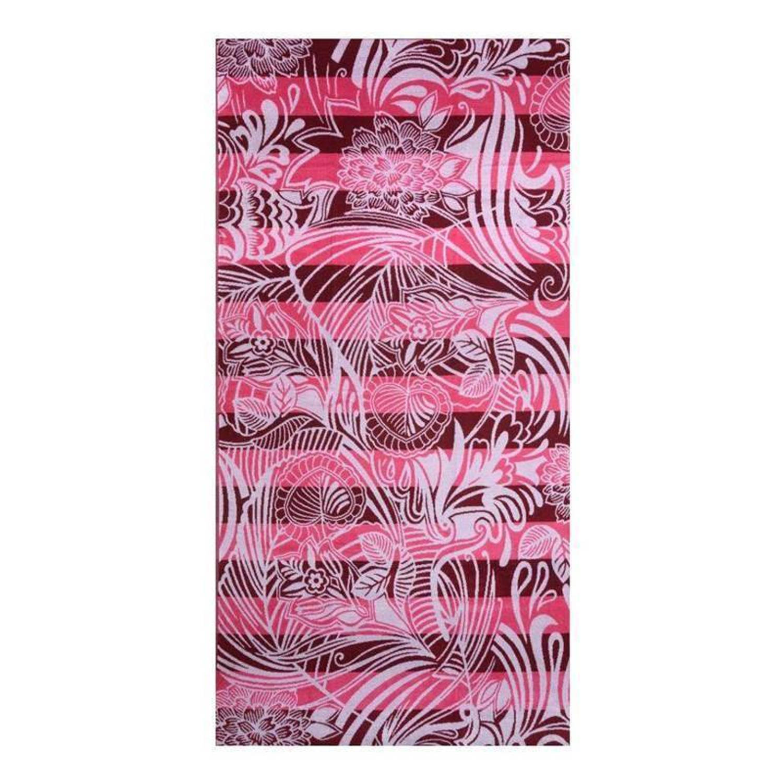 Afbeelding van Arkhipelagos Flowers strandlaken - 100% katoen - 100x180 cm - Roze, Pink