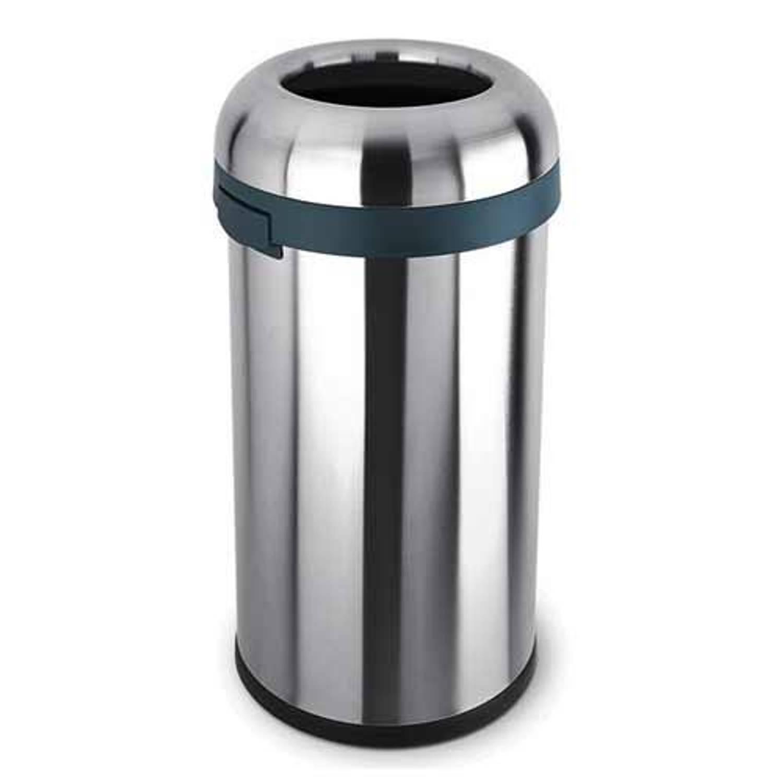 Afvalemmer bullet open top rvs, 60 liter - simplehuman