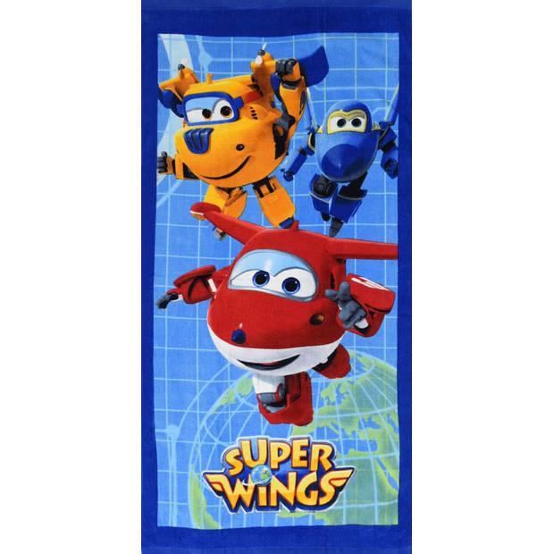 Super wings world - strandlaken - 70 x 140 cm - multi