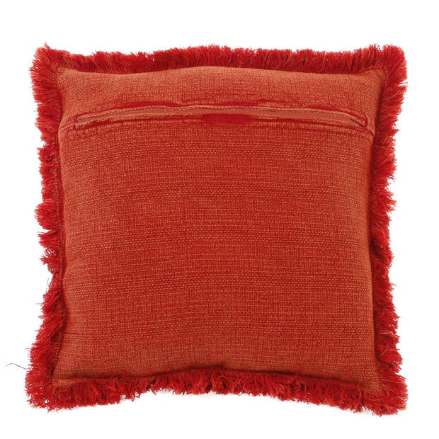 Dutch Decor Kussenhoes Riete 45x45 cm rood