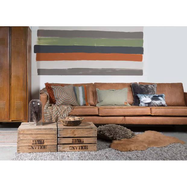 Dutch Decor Kussenhoes Giets 30x50 cm donkergrijs