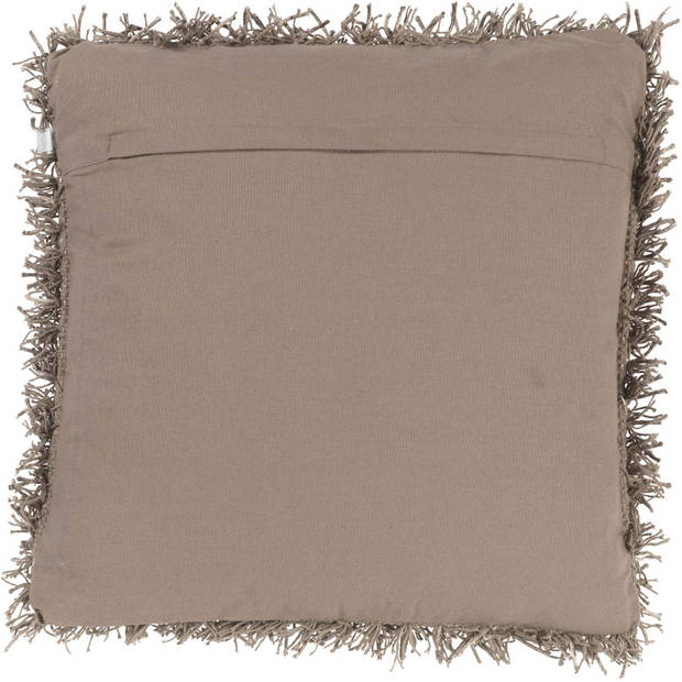 Dutch Decor Kussenhoes Ottawa 45x45 cm taupe