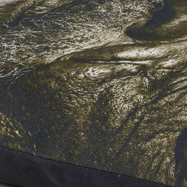 Dutch Decor Kussenhoes Arjen 45x45 cm zwart