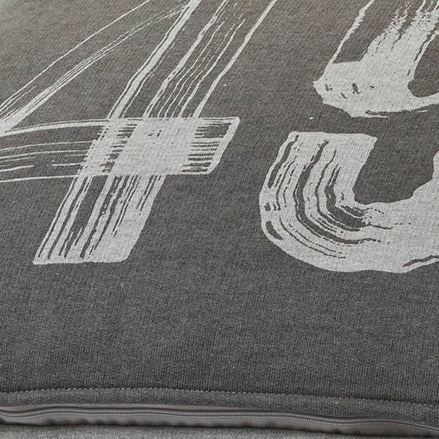 Dutch Decor Kussenhoes Testas 45x45 cm donkergrijs