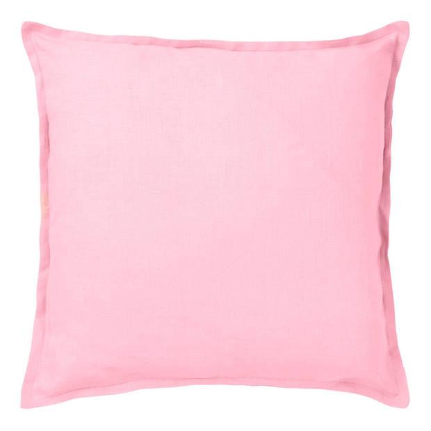 Dutch Decor Kussenhoes Linnen 45x45cm roze