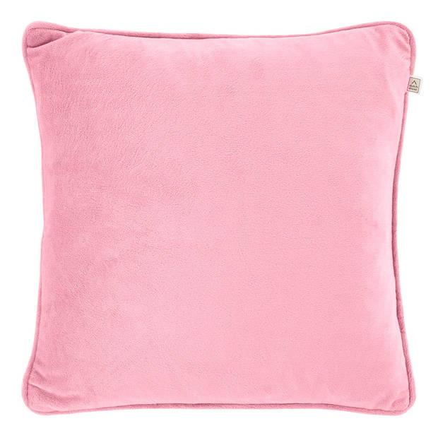 Dutch Decor Kussenhoes Velvet 45x45 cm roze