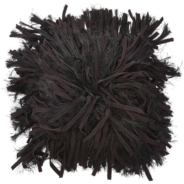 Dutch Decor Kussenhoes Adoxa 45x45 cm zwart