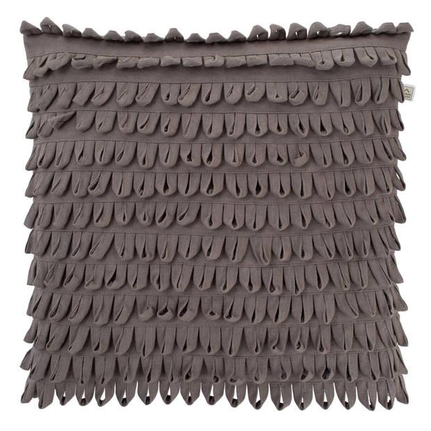 Dutch Decor Kussenhoes Davide 45x45 cm donkergrijs