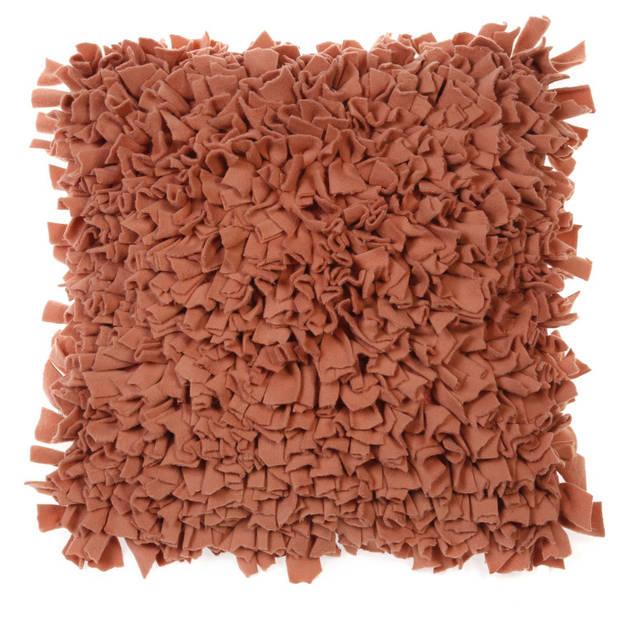 Dutch Decor Kussenhoes Pillo 45x45 cm terra