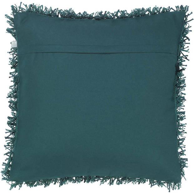 Dutch Decor Kussenhoes Ottawa 45x45 cm smaragd