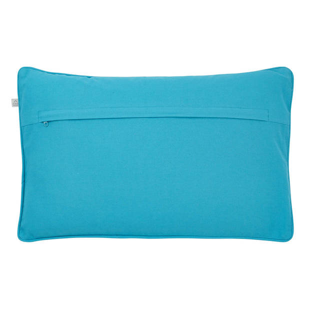 Dutch Decor Kussenhoes Saklan 30x50 cm aqua