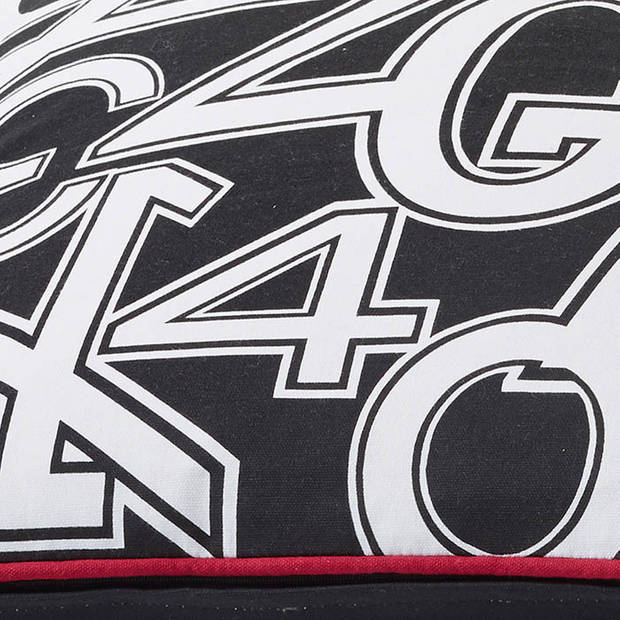 Dutch Decor Kussenhoes Numbers 50x50 cm zwart