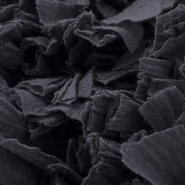 Dutch Decor Kussenhoes Romano 45x45cm zwart