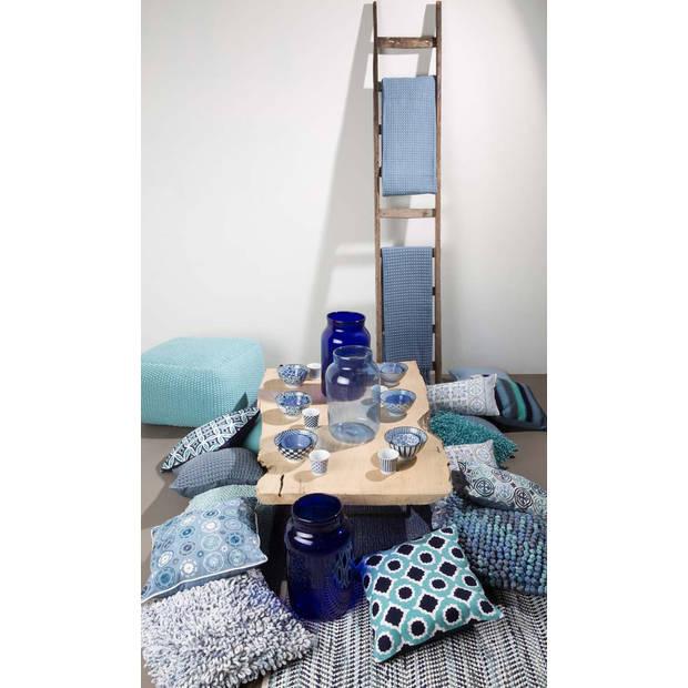 Dutch Decor Kussenhoes Joska 45x45 cm blauw