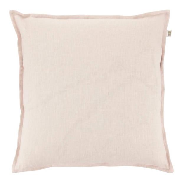 Dutch Decor Kussenhoes Linnen 45x45cm licht roze