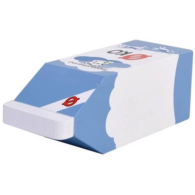 Mamamemo pak volle melk hout 12 cm blauw