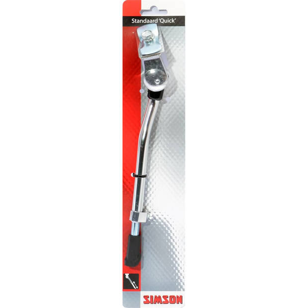 Simson standaard Quick verstelbaar 26/28 inch aluminium zilver
