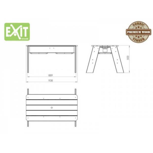 EXIT Aksent Zand- en Watertafel L + EXIT Parasol + EXIT Garden Tools (FSC Mix 70%)