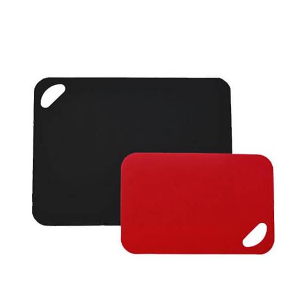 Set van twee flexibele snijmatten, Rood / Zwart - Moha
