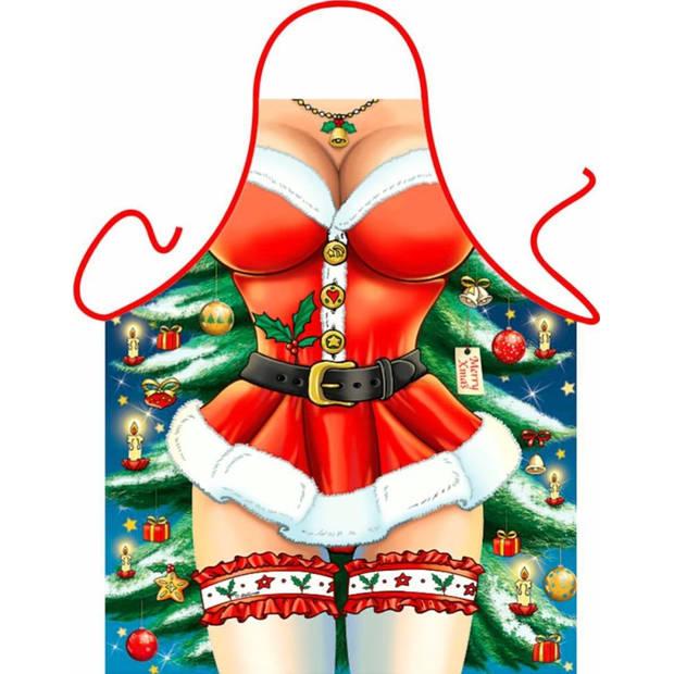 Kerstvrouw - Grappig Leuk Schort Keukenschort