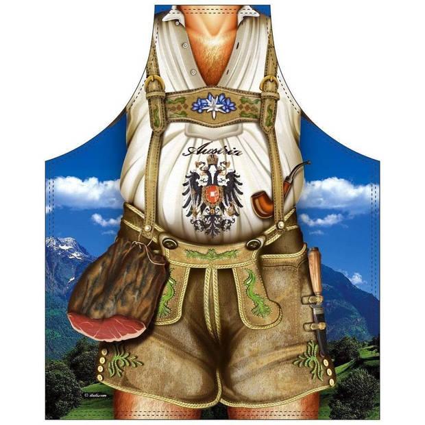 Tiroler Man - Grappig Leuk Tirol Tiroler Schort Keukenschort