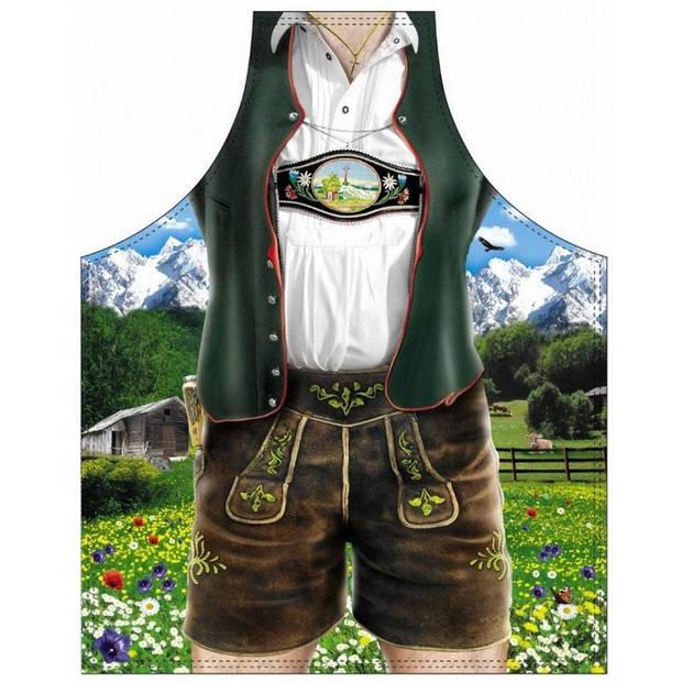 Bavarian Mann - Traditionele Klederdracht - Lederhose - Grappig Leuk Tirol Tiroler Schort Keukenschort