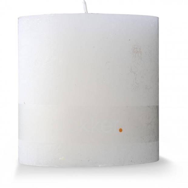 Rustieke kaars - Ø 10 x 10 cm - wit