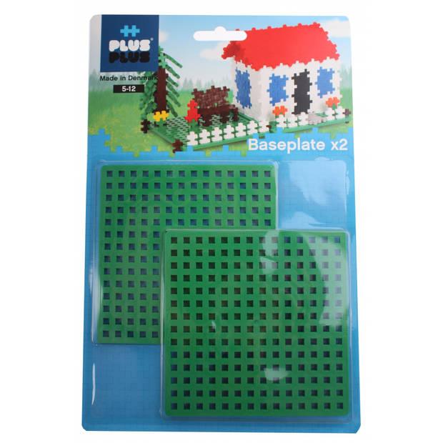 Plus-Plus bouwplaten 11,5 x 11,5 cm 2 stuks