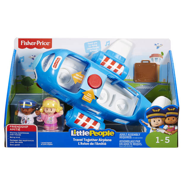 Fisher-Price Little People samen op reis vliegtuig