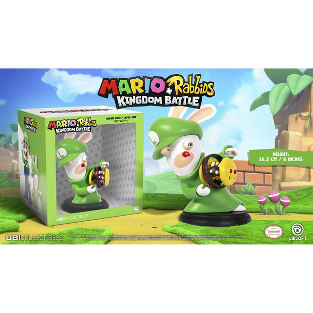Mario + Rabbids Kingdom Battle - Rabbid Luigi figuur - 16,5 cm