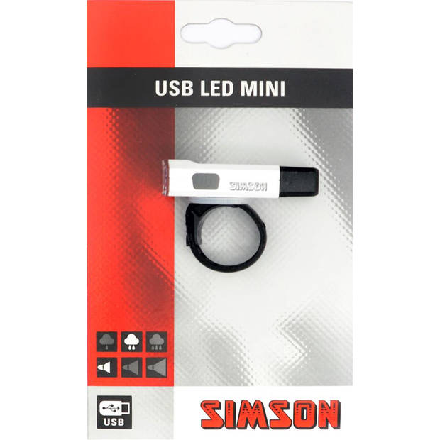 Simson mini-koplamp USB led wit