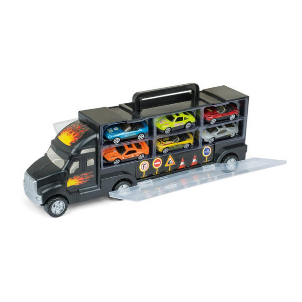 Gear2Play truck met 6 die-cast auto's